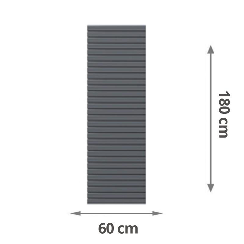 TraumGarten Sichtschutzzaun System Rhombus Rechteck anthrazit - 60 x 180 cm