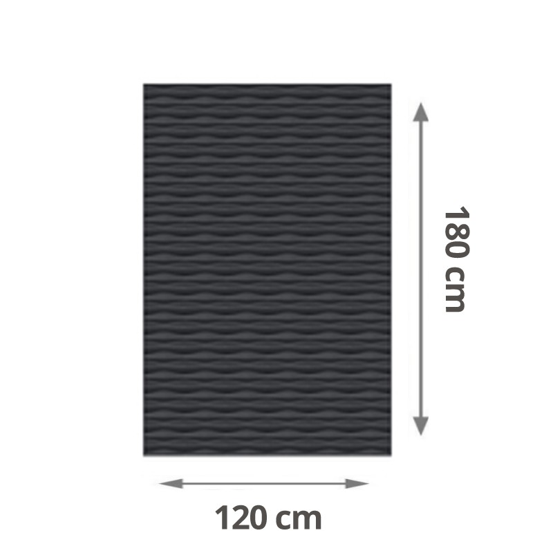 TraumGarten Sichtschutzzaun Flow Aluminium Rechteck Farbe anthrazit - 120 x 180 x 2 cm