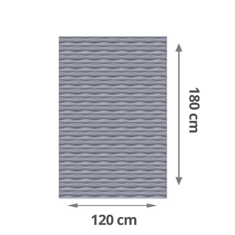 TraumGarten Sichtschutzzaun Flow Aluminium Rechteck Farbe silber - 120 x 180 x 2 cm