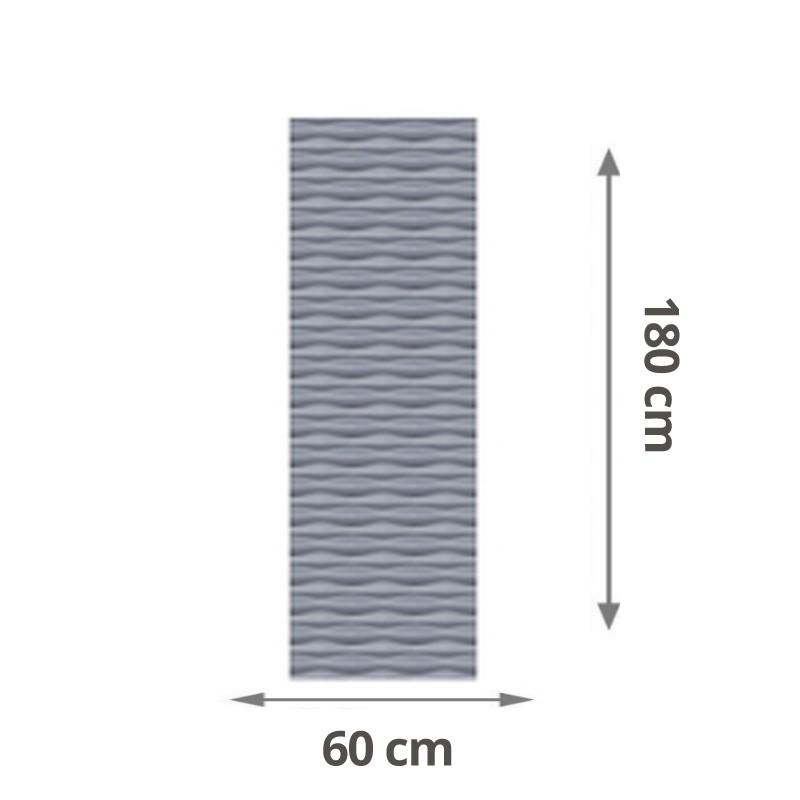 TraumGarten Sichtschutzzaun Flow Aluminium Rechteck Farbe silber - 60 x 180 x 2 cm