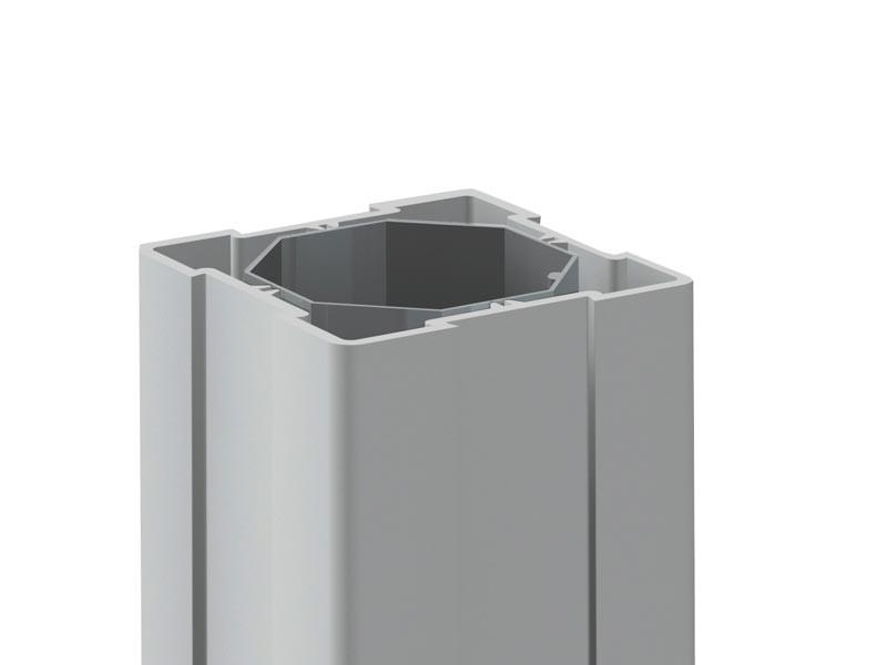 TraumGarten Zaunpfosten Longlife grau - 8 x 8 x 150 cm
