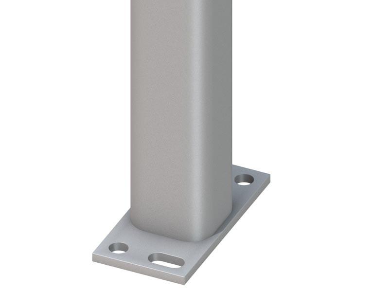 TraumGarten Zaunpfosten Universal silber zum Erdverbau - 7 x 7 x 298 cm