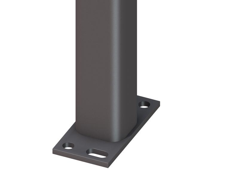 TraumGarten Zaunpfosten Universal anthrazit zum Erdverbau - 7 x 7 x 298 cm