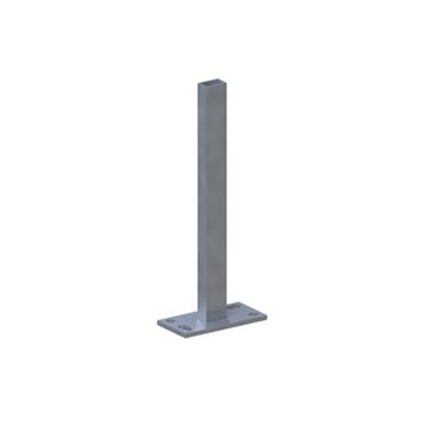 TraumGarten Pfostenträger System Klemmpfosten zum Aufschrauben - 16 x 8 x 61 cm
