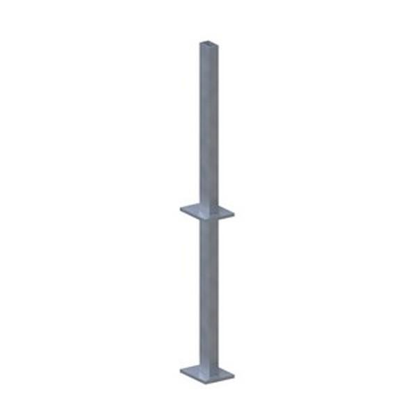 TraumGarten Pfostenträger System Klemmpfosten zum Erdverbau - 7 x 6 x 110 cm