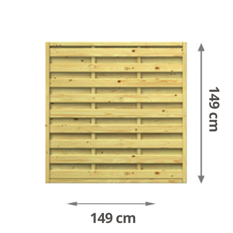 TraumGarten Sichtschutzzaun Lettland Rechteck kdi - 149 x 149 cm