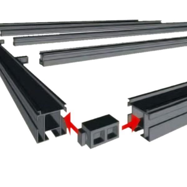 TraumGarten Unterkonstruktionsverbinder DreamDeck Kunststoff schwarz - 4,7 x 2 x 2 cm