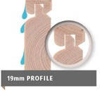 Sonderangebot: Woodfeeling Holz-Gartenhaus: Askola 3,5 im Set mit Anbaudach und 19 mm Seiten- Rückwand - 19 mm Flachdach Schraub- Stecksystem  - naturbelassen