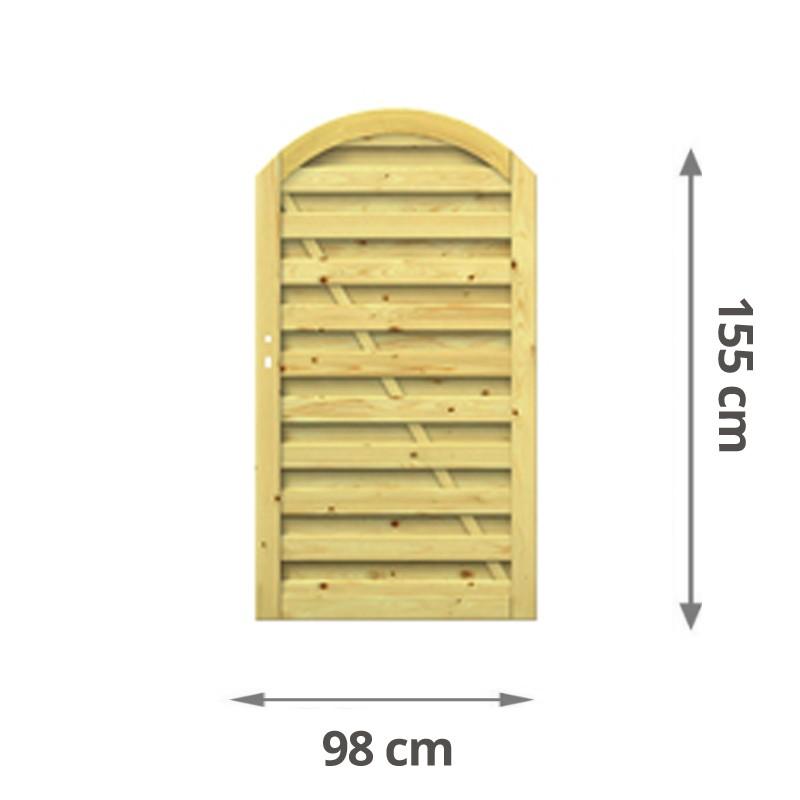 TraumGarten Sichtschutz RONJA Tor kdi - 98 x 155 (179) cm