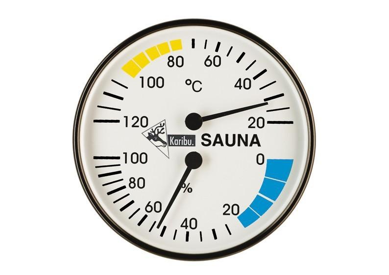 Karibu Klimamesser (Thermometer + Hygrometer) Classic, rund 10 cm