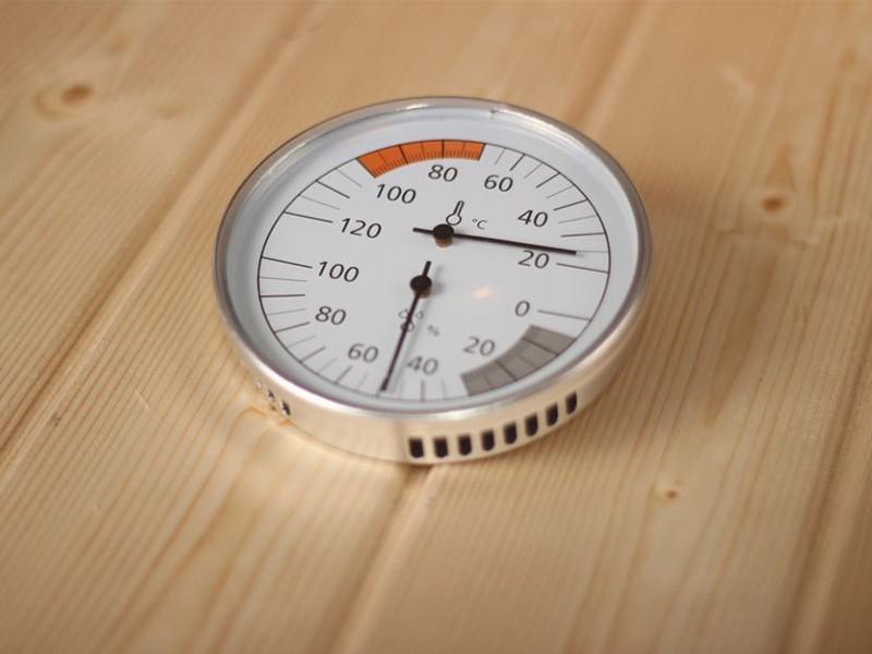 Karibu Klimamesser Classic (Thermometer + Hygrometer) - rund 10 cm