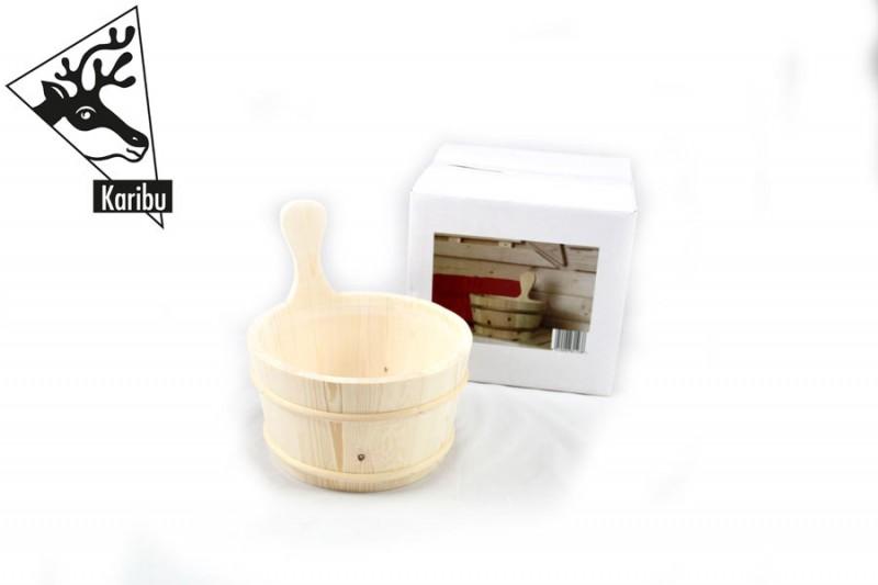 Karibu Sauna Aufgusskübel 3 Liter mit Kunststoffeinsatz