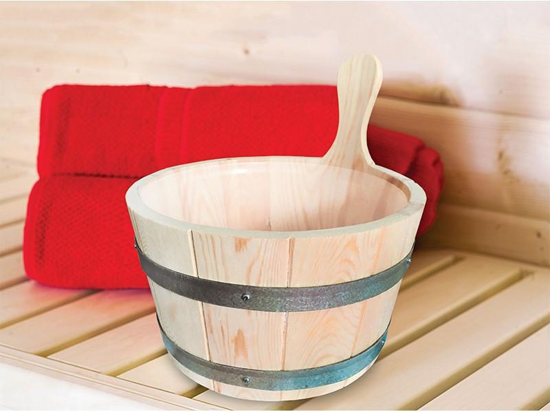 Karibu Sauna Aufgusskübel - 4 Liter - Kunststoffeinsatz