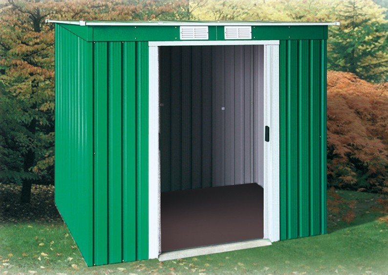 Tepro Gerätehaus Metall - Pent Roof 6x4 - Grün