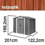Tepro Gerätehaus Metall - Riverton 6x4 - Holzoptik