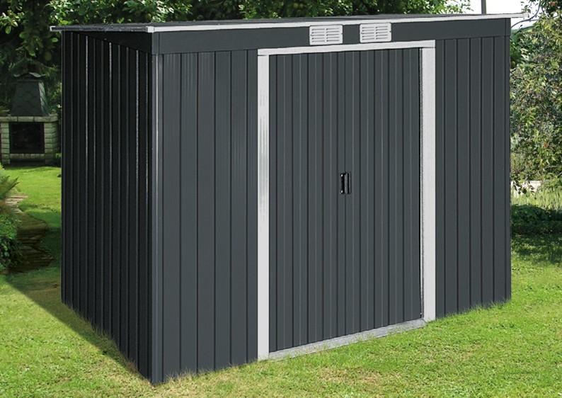 Tepro Gerätehaus Metall - Pent Roof 6x4 - Holzoptik