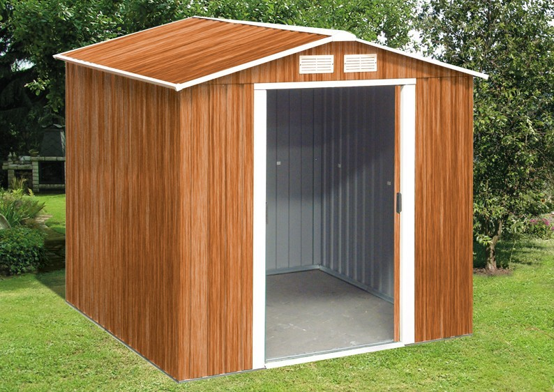 Tepro Gerätehaus Metall - Riverton 6x6 - Holzoptik