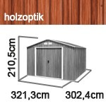 Tepro Gerätehaus Metall - Colossus 10x10 - Holzoptik