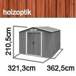 Tepro Gerätehaus Metall - Colossus 10x12 - Holzoptik