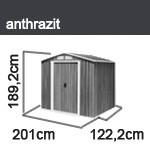 Tepro Gerätehaus Metall - Riverton 6x4 - Anthrazit