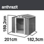 Tepro Gerätehaus Metall - Riverton 6x6 - Anthrazit
