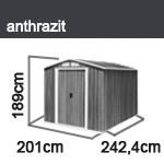 Tepro Gerätehaus Metall - Riverton 6x8 - Anthrazit