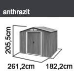 Tepro Gerätehaus Metall - Titan 8x6 - Anthrazit
