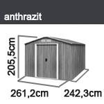 Tepro Gerätehaus Metall - Titan 8x8 - Anthrazit