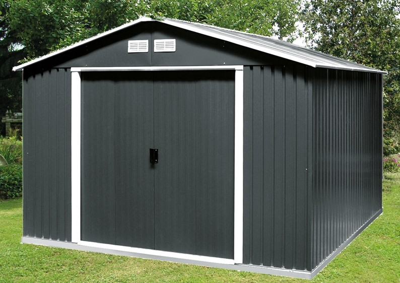 Tepro Gerätehaus Metall - Colossus 10x8 - Grün