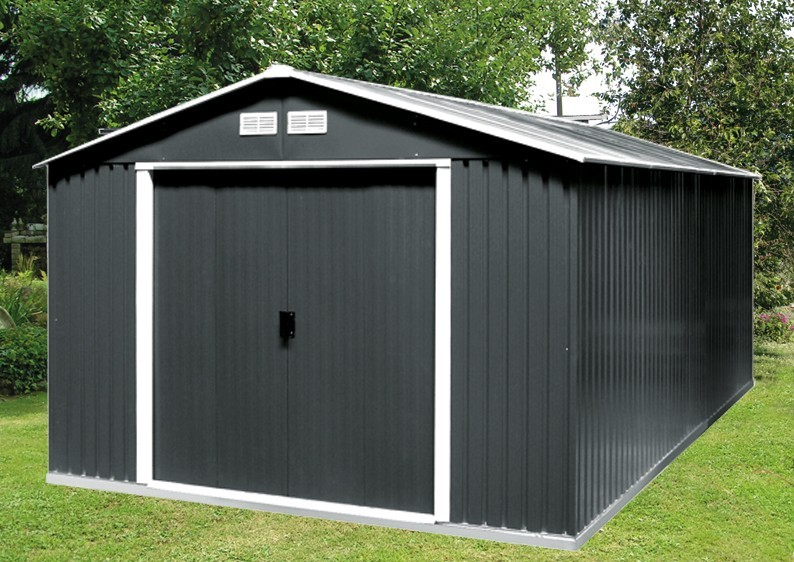 Tepro Gerätehaus Metall - Colossus 10x10 - Grün