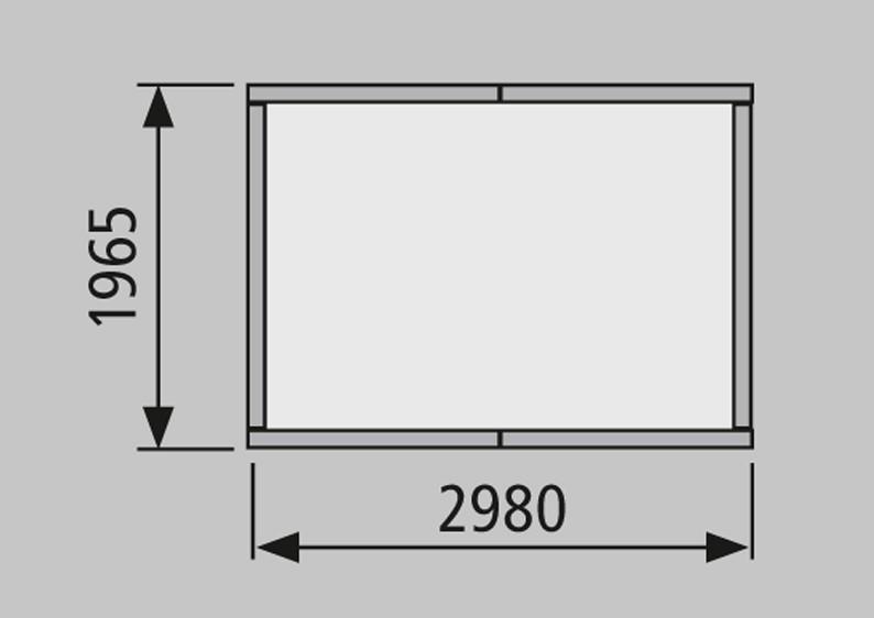 Woodfeeling Marktstand (303 x 202 x 248 cm) mit Satteldach 19 mm Element - natur