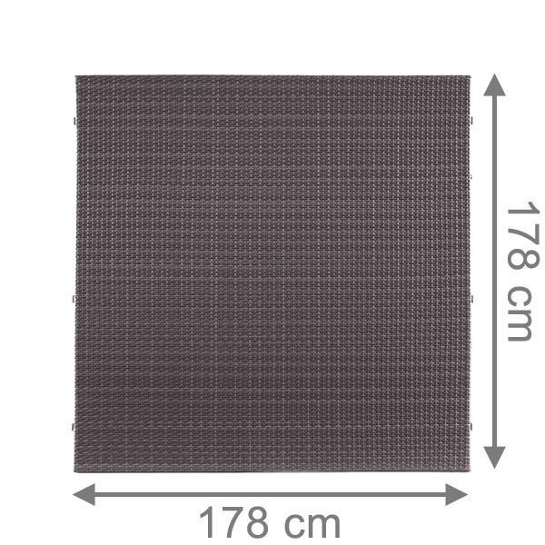 TraumGarten Sichtschutzzaun Weave Rechteck anthrazit - 178 x 178 cm
