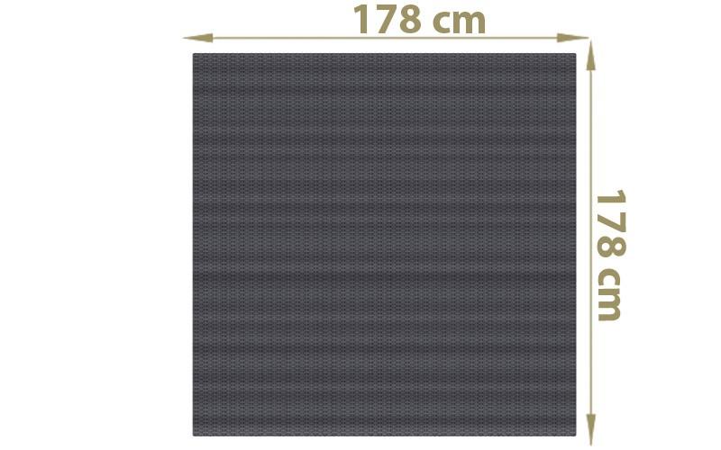 TraumGarten Sichtschutzzaun Textil-Geflecht Weave Rechteck anthrazit - 178 x 178 cm