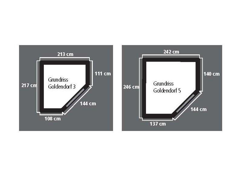 Karibu Holz-Gartenhaus Goldendorf 5 - 19 mm Flachdach Schraub- Stecksystem - terragrau