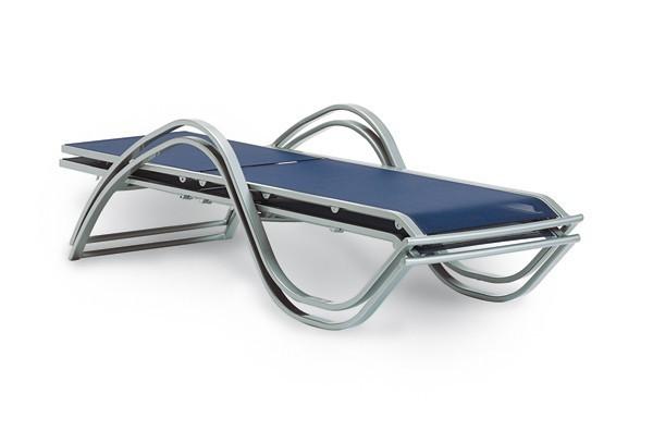 Best Aluminium Stapelliege Miami Bezug anthrazit