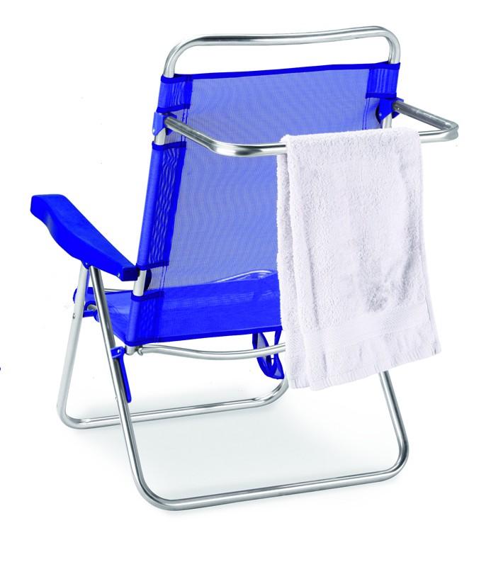 Best Aluminium Strandstuhl Ocean verstellbar silber/blau