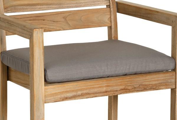 Best Sitzkissen 48 x 48 x 6cm Dessin Nr.: 1501 Farbe: anthrazit eckig mit Reißverschluss