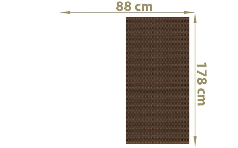 TraumGarten Sichtschutzzaun Textil-Geflecht Weave Rechteck mocca - 88 x 178 cm
