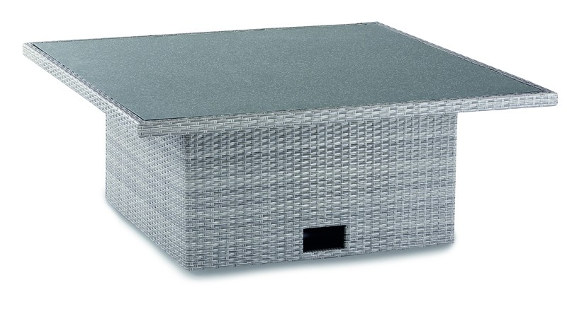 Best Tisch Barcelona 120x120x43/66cm warm-grey