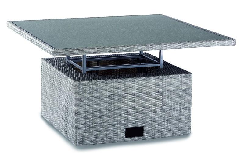 Best Loungetisch Bonaire 120x120x43/66cm warm-grey