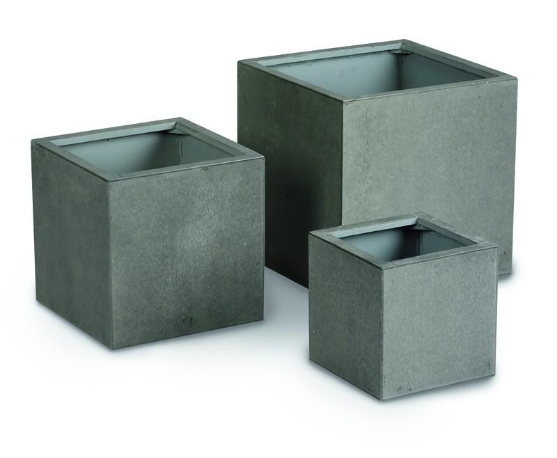 Best 3-tlg. Set Pflanzbehälter Rockall (50, 40, 30cm hoch) Beton-Glasfaser