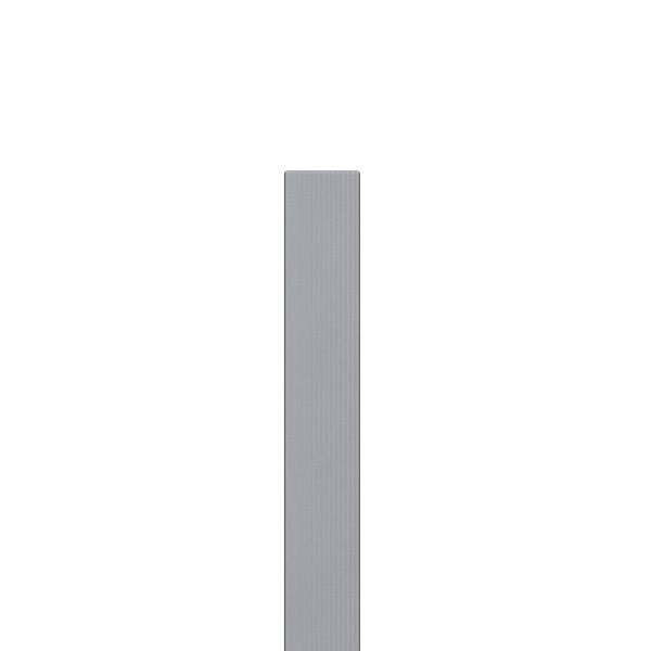TraumGarten Zaunpfosten WPC grau - 8,4 x 8,4 x 100 cm