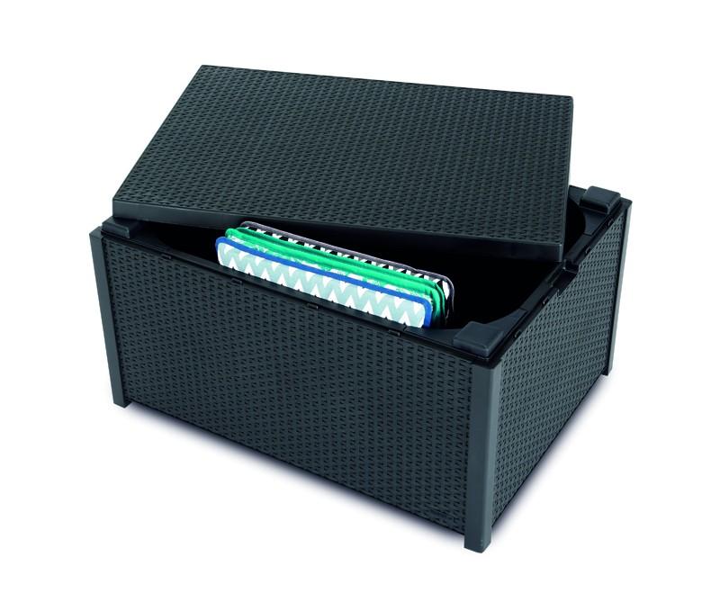 Best Kissenbox/Beistelltisch Roma 79x59x42cm graphit