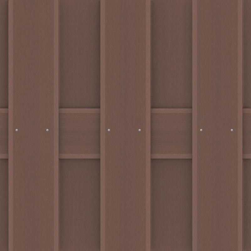 TraumGarten Sichtschutzzaun Jumbo WPC Rechteck braun - 95 x 179 cm