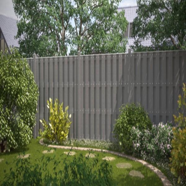 TraumGarten Gartentor Jumbo WPC grau 98 x 179 cm
