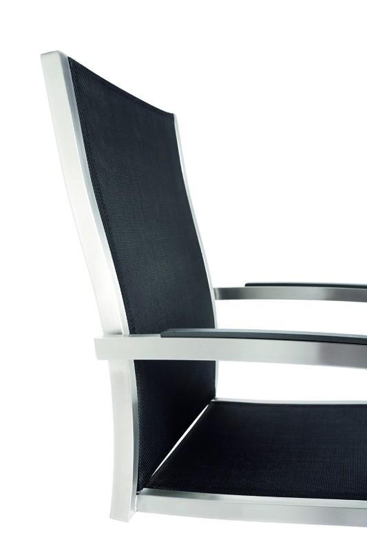 Best Freischwing-Sessel Marbella Edelstahl/schwarz