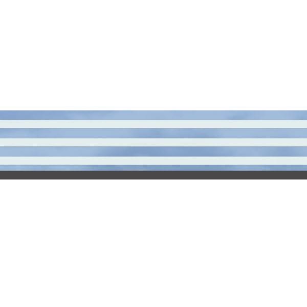 TraumGarten Dekorprofil Set Delta mattiert 15 x 178 cm