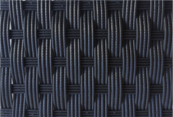 Rattan Sessel Rollo Flachsessel inkl. Kissen - Farbe: Schwarz