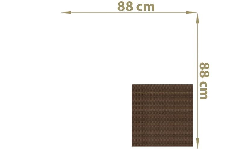 TraumGarten Sichtschutzzaun Textil-Geflecht Weave Rechteck mocca - 88 x 88 cm