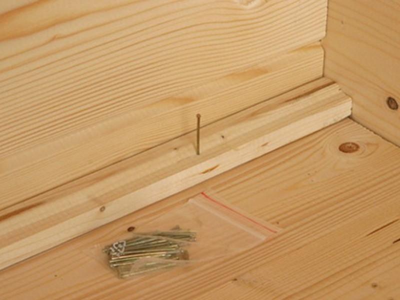 Sparset: Wolff Finnhaus 28mm Holz-Gartenhaus Lyon B mit Satteldach - naturbelassen - inkl. Fußboden